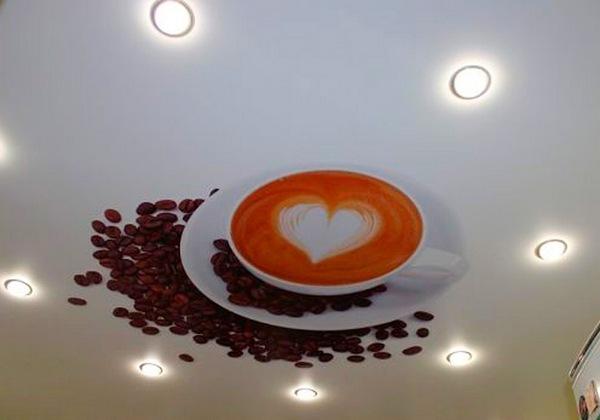 фото натяжного потолка с фотопечатью