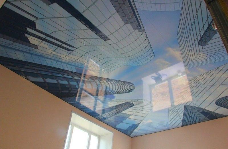 фото натяжного потолка с трехмерной фотопечатью