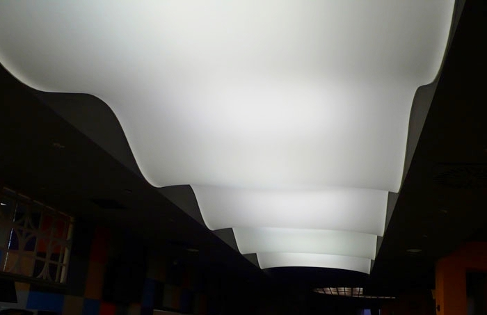 фото натяжного потолка 3Д