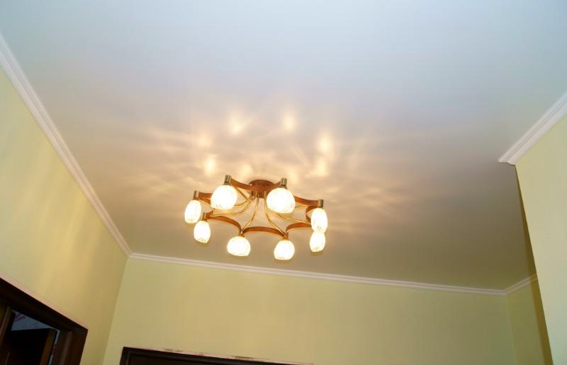 фото тканевого натяжного потолка